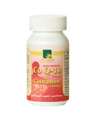 CoQ 10 & Cinnamon (30 Capsules or 120 Capsules)